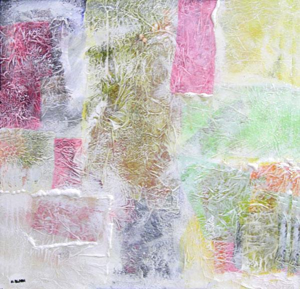 Mixed Media Painting on Canvas entitiled 'Aspen Spring'